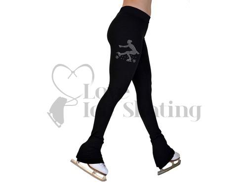 Chloe Noel P22 Ice Skating Leggings with  Mini Sit Spin Rhinestone Skater