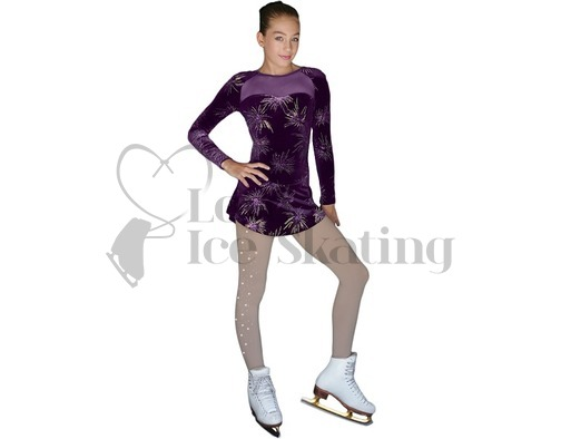 Firework Glitter Explosion Velvet Ice Skating Dress by Chloe Noel DLV675