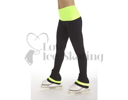 Thuono Neon Yellow Performance Ice Skating Leggings