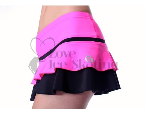 Thuono Hello Thermal Neon Pink Ice Skating Skirt Adult Extra Small