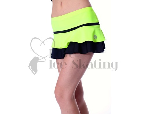 Thuono Hello Thermal Neon Yellow Figure Skating Skirt