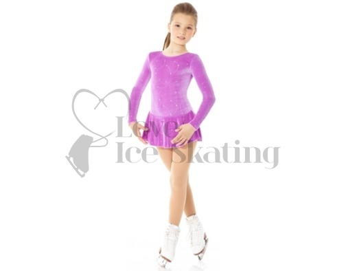 Purple Ice Skating Dress with Silver Glitter by Mondor