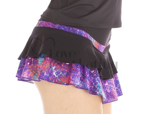 Ice Skating Thermal Skirt Glitter Explosion Violet by Thuono