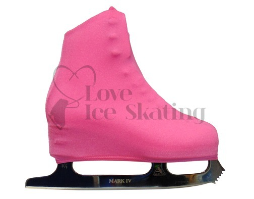 Neon Pink Ice Skating Boot Covers Youth