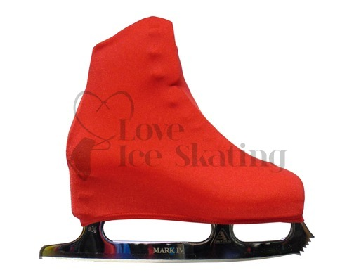 Red Adult Figure skating Boot Covers