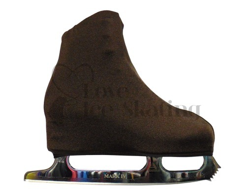 Brown Figure Skating Boot Covers Adult Medium