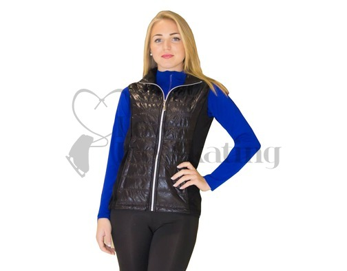 Jiv Black Figure Skating Training Gillet / Body Warmer