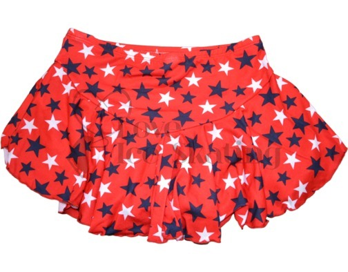 Chloe Noel York Flare Red Skirt with Stars