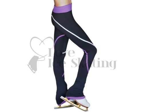 Ice Skating Leggings P618f WT & PR Stripes
