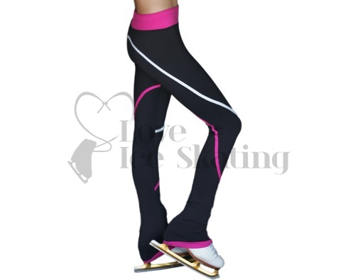 Chloe Noel P618f Ice Skating Fleece Leggings White & Fuchsia
