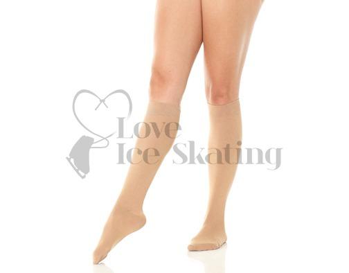 Mondor 104 Knee High Meryl Ice Skating Socks Caramel 2-Pack