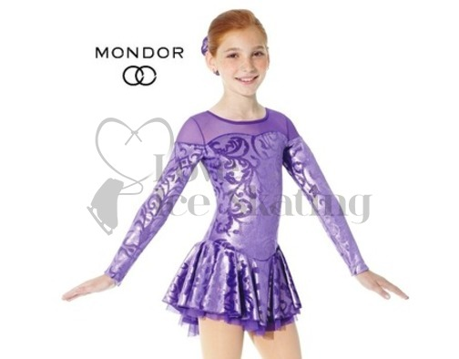 Mondor Purple Damask Figure Skating Dress 2760
