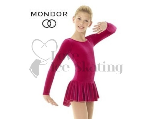 Mondor 2850 Red Classic Velvet Ice Skating Dress