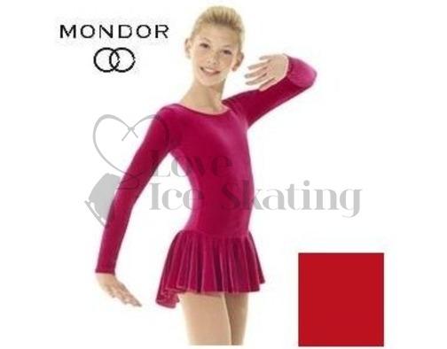 Mondor 2850 Red Classic Velvet Ice Skating Dress