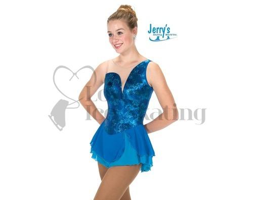 Ocean Blue Foil & Glitter Skating Dress Jerry's 252 Aurellia