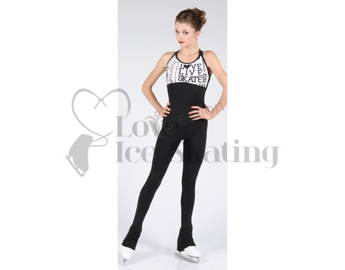 Jerry's XS1608 Xpression SK8 Catsuit White w Black