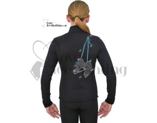Figure Skating Jacket  Turquoise Crystal Skates and Leggings combo
