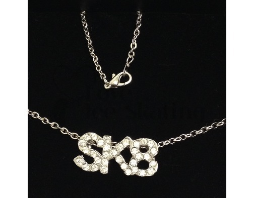 Jerry's SK8 Crystal Ice Skating  Necklace  by Jerry's 1299