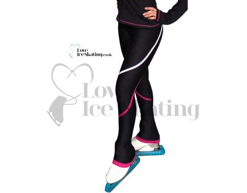Chloe Noel p618  2 Tone Piping Skating Leggings w Crystals