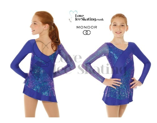 Mondor 661 Sapphire Blue Glitter Figure skating Dress
