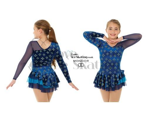 Mondor 2971 Blue & Gold Fantasy on Ice Dress