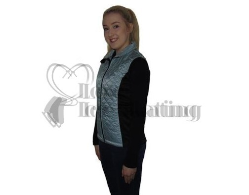 Silver Ice Skating Training Gillet / Body Warmer by JIV