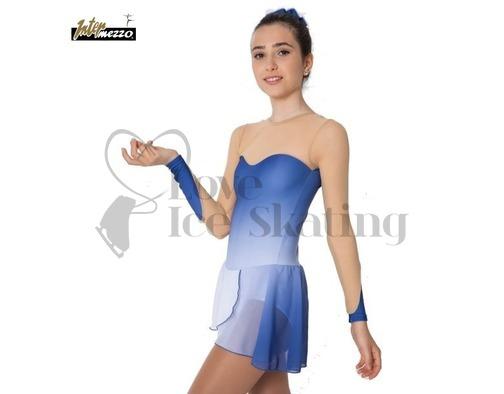 Intermezzo Blue & Nude Chiffon Ice Skating Dress