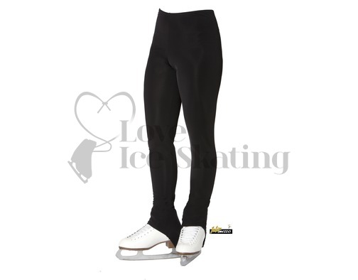 Black Over the Heel Ice Skating Leggings