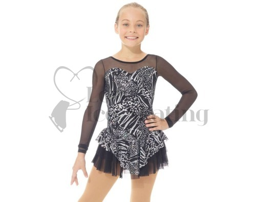 Mondor 668 Black Metallic Silver skating Dress