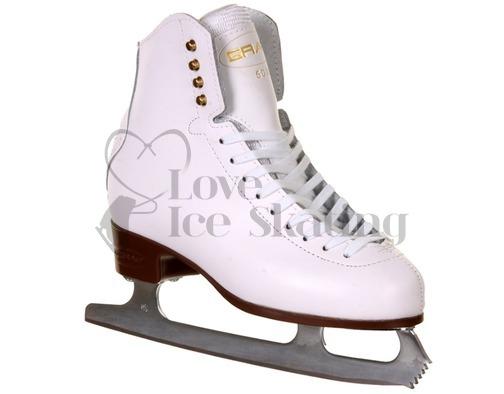 Graf 500 White Ladies Figure Ice  Skates