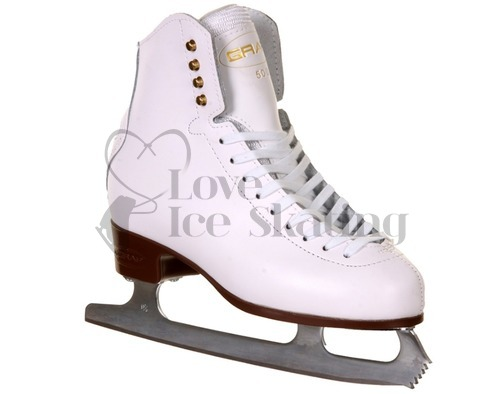 Graf 500 White Figure Ice Skates Junior