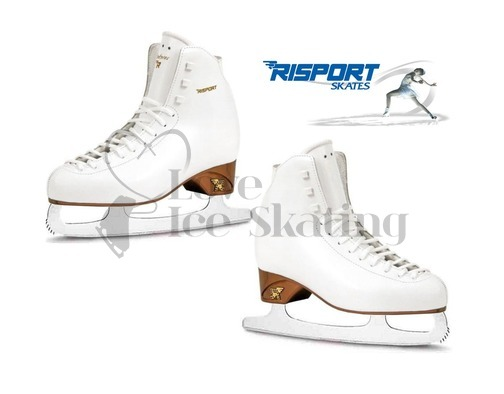 Risport Antares White Figure Skate with Blades