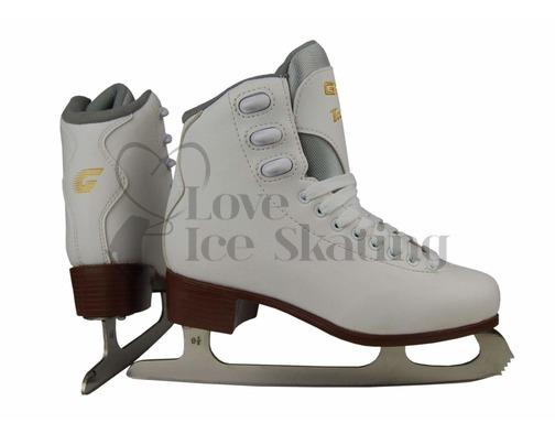 Graf Bolero  White Figure Skates Junior