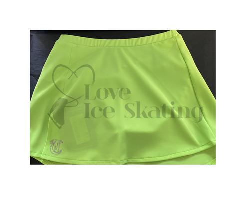 Thuono Neon Green A-Line Ice Skating Skirt