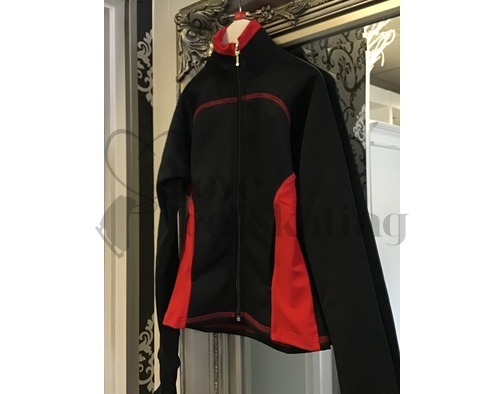 Chloe Noel JT92 Black / Red Ice Skating Jacket