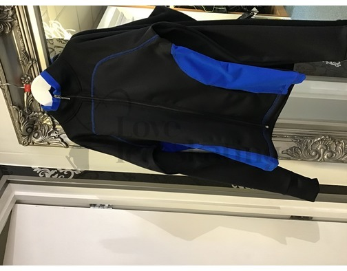 Chloe Noel JT92 Black / Royal Blue Ice Skating Jacket