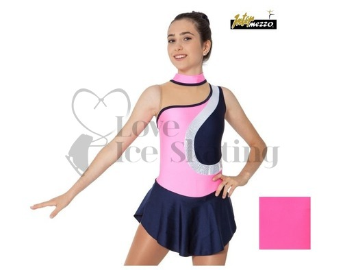 Royal Blue with Neon Inserts Ice Skating Dress