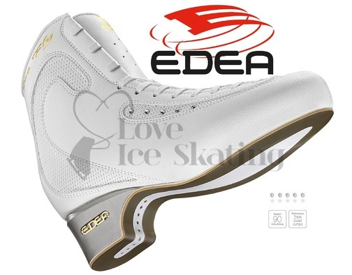 Edea Ice Fly Ladies White Figure Skates Boots