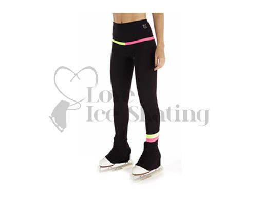 Thuono Rainbow 2 Black Leggings w Yellow & Pink Inserts