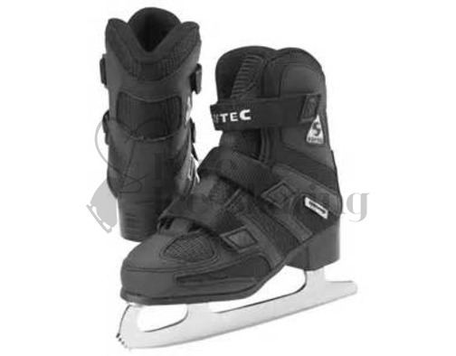 Boys Softec- Tri-Grip Jackson Black Ice Skate Youth ONE ONLY