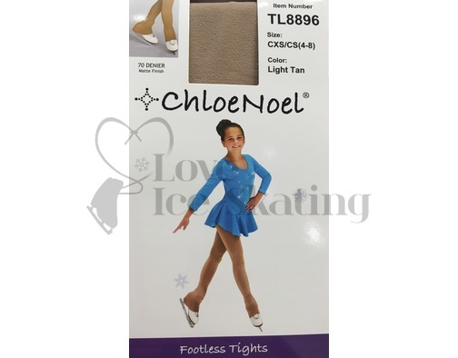 Footless Over the Heel Ice Skating Tights