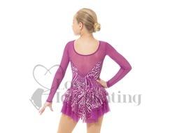 Mondor 668 Hibiscus Metallic Silver skating Dress