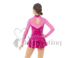 Mondor Ice Skating Dress Fuchsia & Pink Mesh
