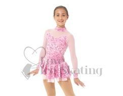 Mondor Skating Dress Pink Glitter With Mesh