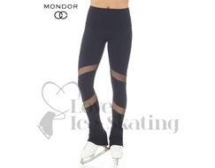 Skating Leggings Supplex® Black with Mesh Inserts by Mondor