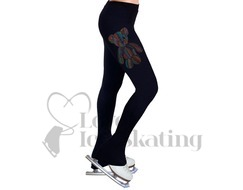 NY2 Ice Skating Leggings Rhinestone Teddy Bear