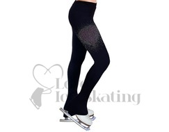 NY2 Ice Skating Leggings Coloured Rhinestones Heart