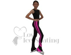 Chloe Noel Swirls Ice Skating Leggings P26 Fuchsia