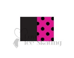 Chloe Noel  Practice Shorts Black with Fuchsia Dots