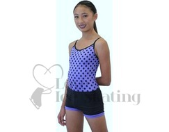 Chloe Noel Practice Shorts Black with Purple